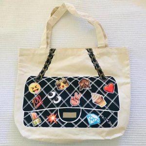 My Other Bag Emoji Canvas Tote Purse